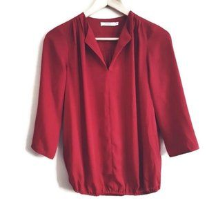 Ricki's | drapey red light weight blouse